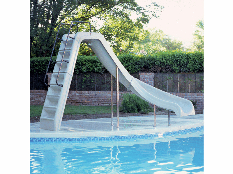 Pool360 Tan Right Turn Wild Ride Complete Slide