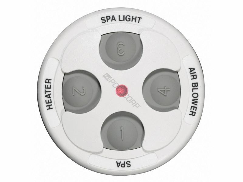 Pool360 White 4 Button Spa Side Remote W 150 Cord