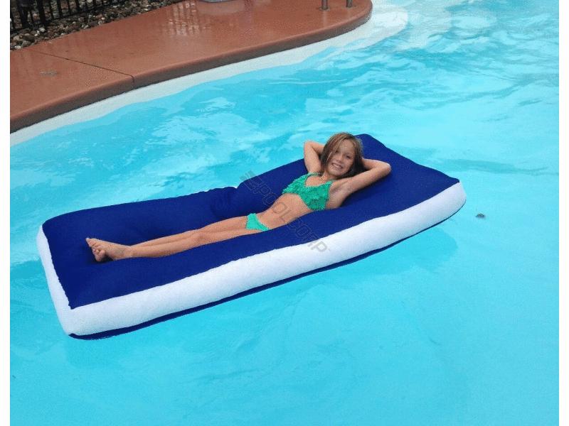 pool360 sky aqua cloud blue floating matt wht band. Black Bedroom Furniture Sets. Home Design Ideas