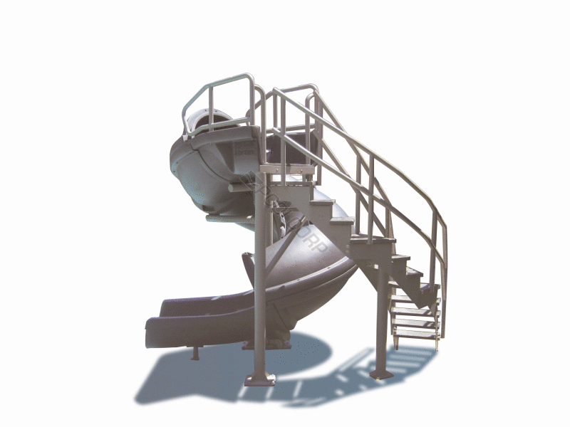 Pool360 gry granite vortex closed slide w ladder for Citywide aquatics division swimming pool slide